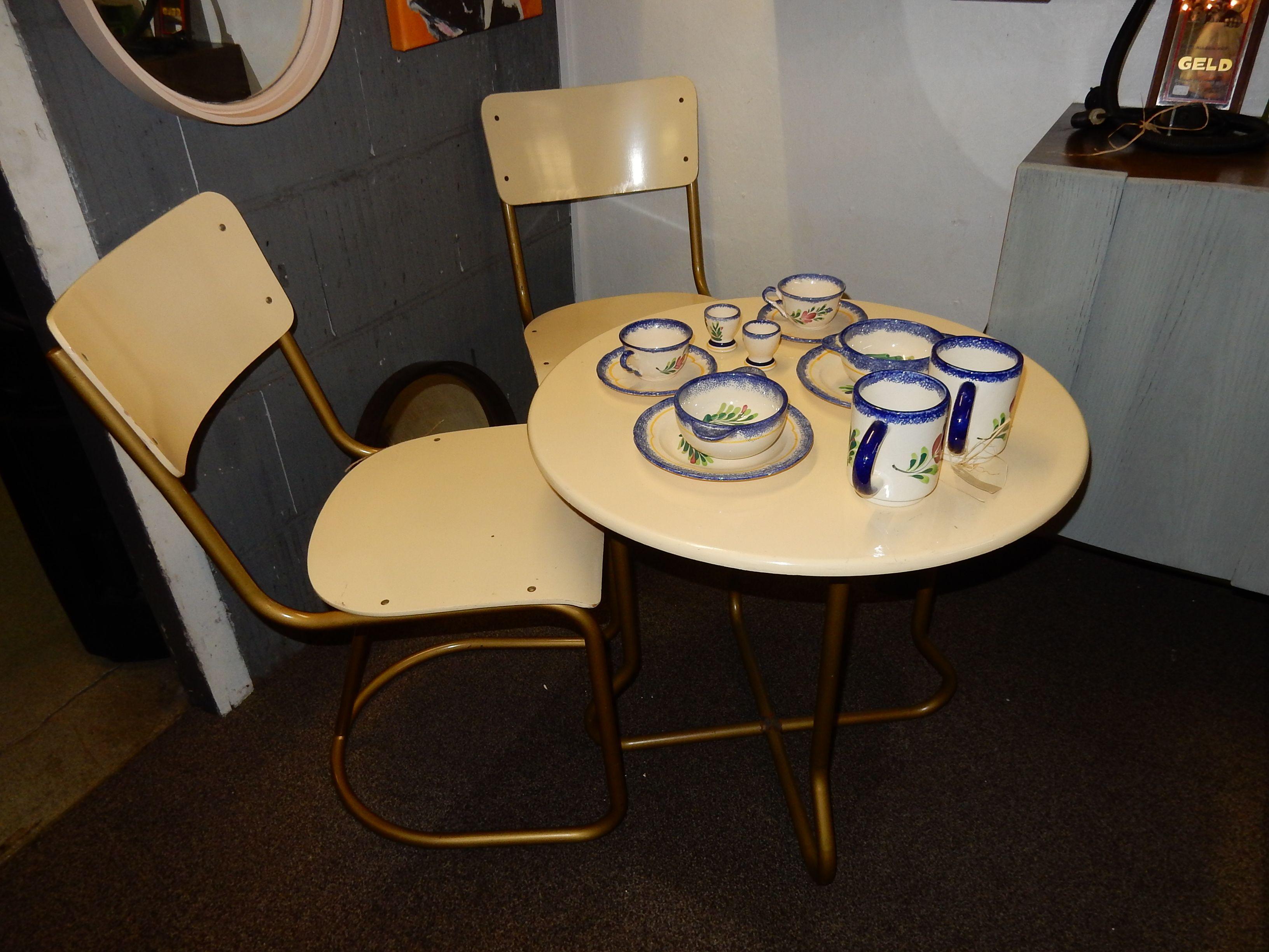 Miniatuur Rietveld Stoel : Te koop vintage slaapkamer set van gispen bestaande uit 2 stoelen
