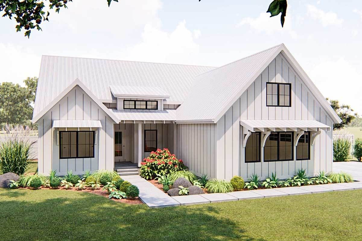 Plan 62738dj One Story 3 Bed Modern Farmhouse Plan Modern Farmhouse Plans Small Farmhouse Plans Farmhouse Style House
