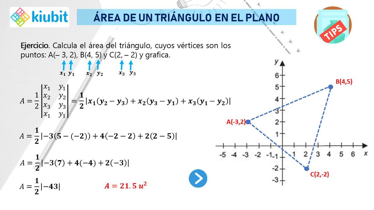 área De Un Triángulo En El Plano Area De Un Triangulo El Plano Cartesiano Calcular El Area