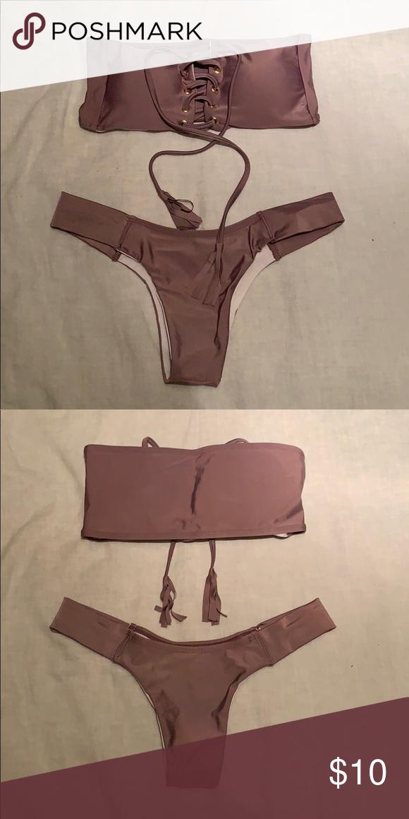 e68c819f13 Purple Bikini Never worn never tried on purple cheeky bikini. Bikini guard  still on. SHEIN Swim Bikinis