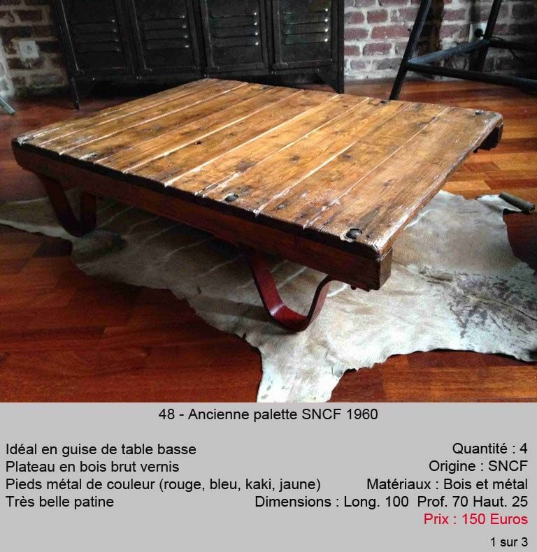 Le Quai Meubles Industriel Design Et Vintage Mobilier De Salon Table Basse Table Basse Palette