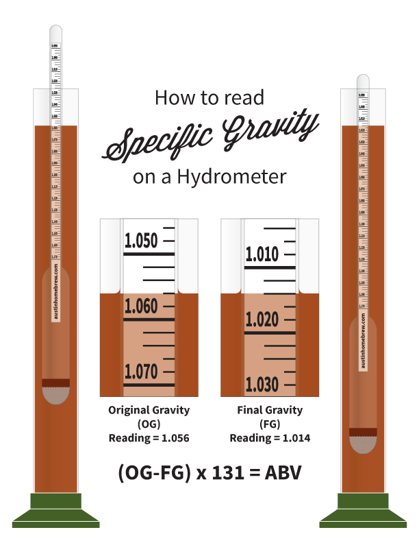 Illustration: Reading Specific Gravity | Winemaking