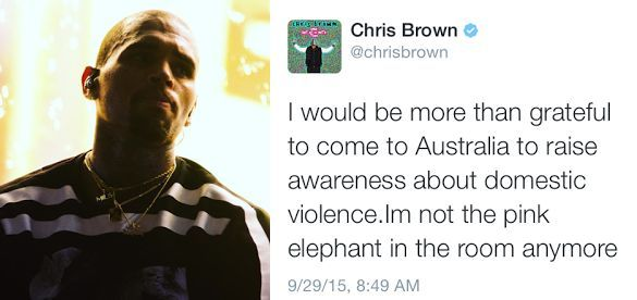 Chris Brown begs Australia's govt to let him into their country