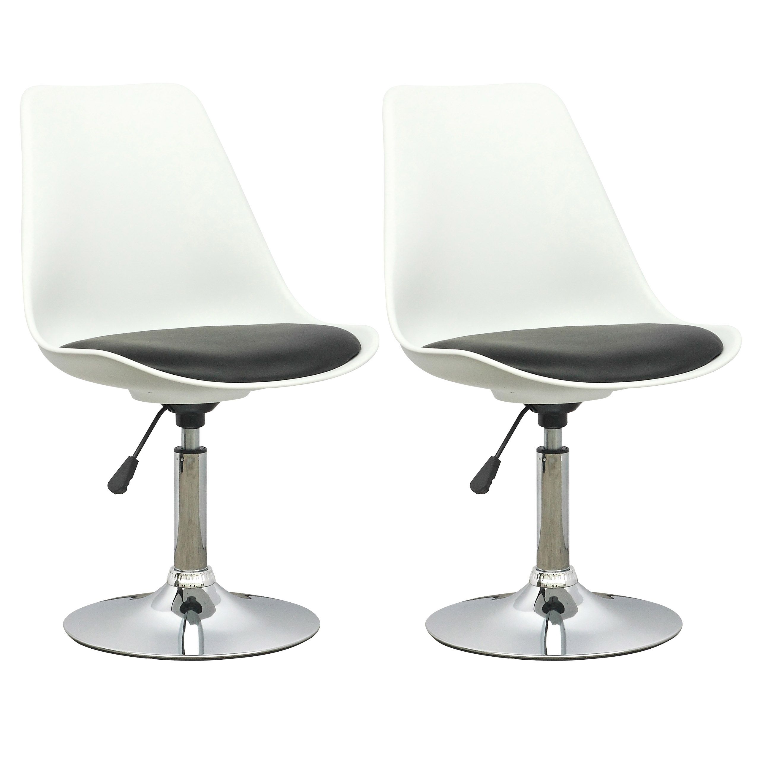 Corliving white adjustable chair with black leatherette