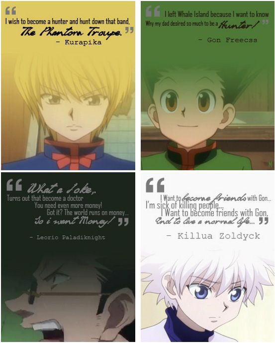 The reason to become a Hunter. God, I love this show. Hunter x Hunter