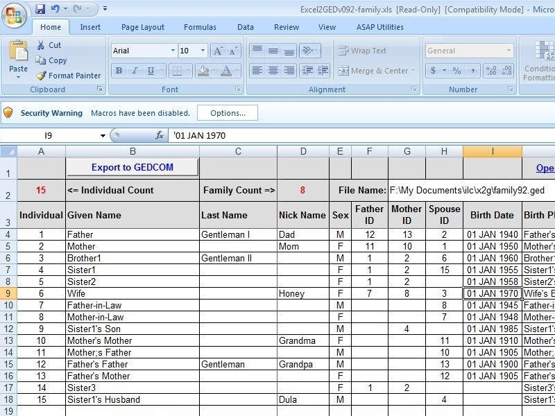 40 best Genealogy - Excel, Spreadsheets images on Pinterest ...