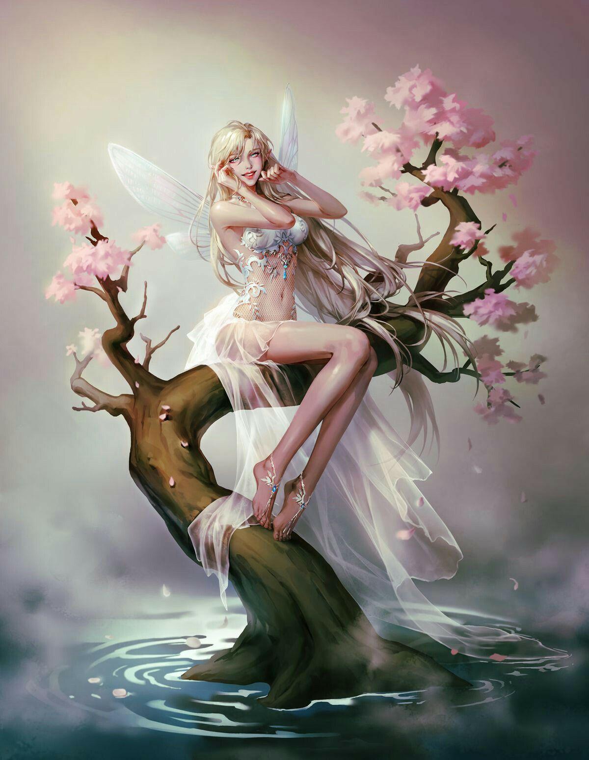 Old Photo Cute Angel Girls - Precious! - The Graphics Fairy