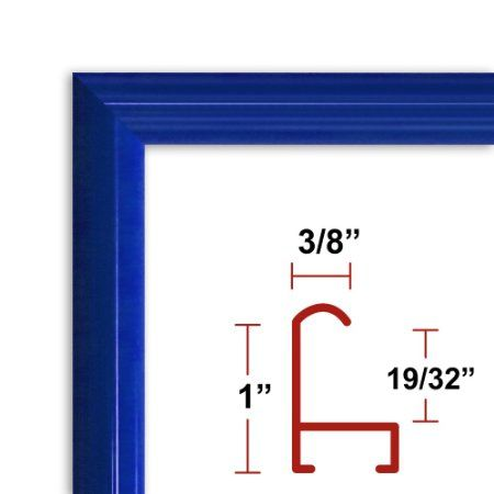 Amazon Com 8 X 10 Red Poster Frame Profile 15 Custom Size Picture Frame 16 X 20 17 13 9 95 Shipping Poster Frame Picture Frame Detail Picture Frames
