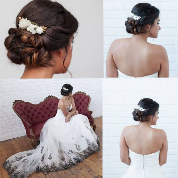 Romantic Bridal Hair Piece  Vintage Style by ShabbyCottageAdorned A stunning and romantic bridal hairpiece. It doesn't matter if you tuck it into an updo, braid or simply sweep your hair back, this vintage style bridal comb fit the bills beautifully! A decorative hair comb is tres belle. While perfect for weddings, for bridesmaids, mothers of the bride and flower girls, you don't need a wedding to wear this hair comb. Wear it for any occasion that calls for a little romantic flavor.