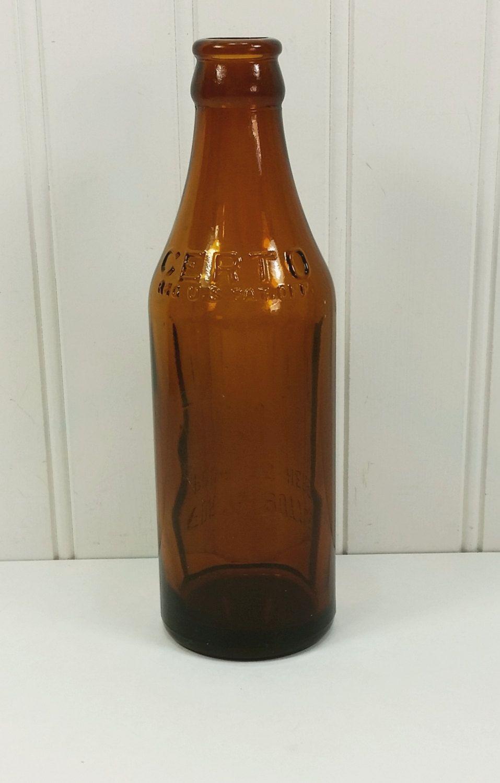 Vintage Certo Bottle Amber Brown Glass Pectin Measuring Bottle