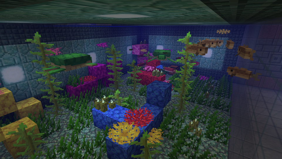 Inside Of The Aquarium I Made To Celebrate 1 13 Minecraft In