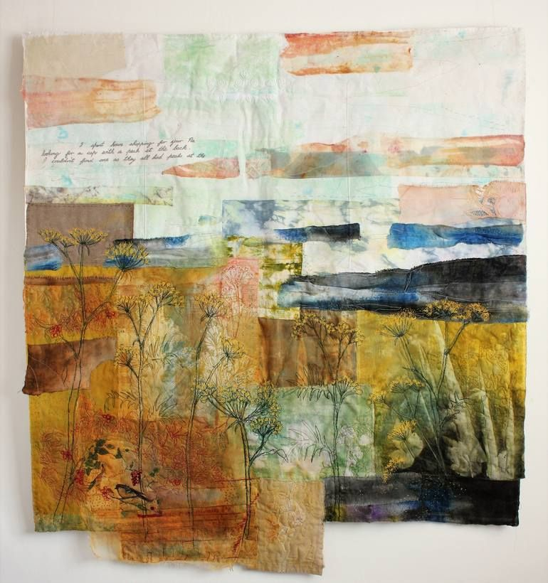 Painting with Cloth in Mixed Media Textile Landscape