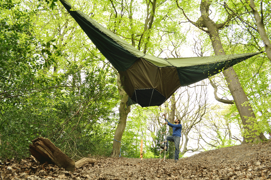 Tentsile Portable Treehouse and Hammock in One! & these portable tree-houses by Tentsile are without a doubt the ...