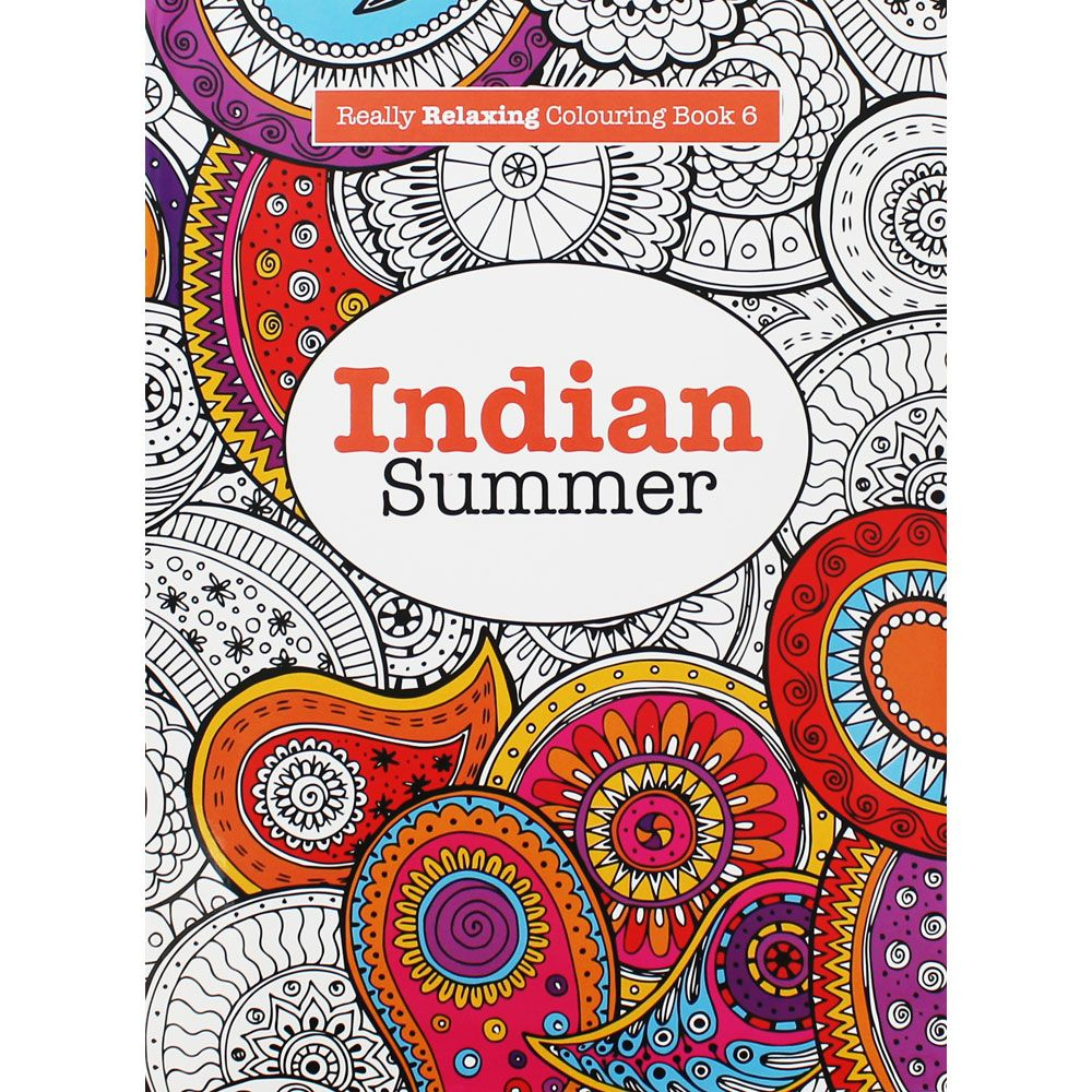 indian summer adult colouring book from target | coloring