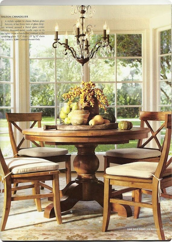 Table Scape For Fall Pedestal Dining Table Dining Table