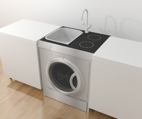 washer-dryer-oven-dishwasher-stove-sink-combo. This is concept ...