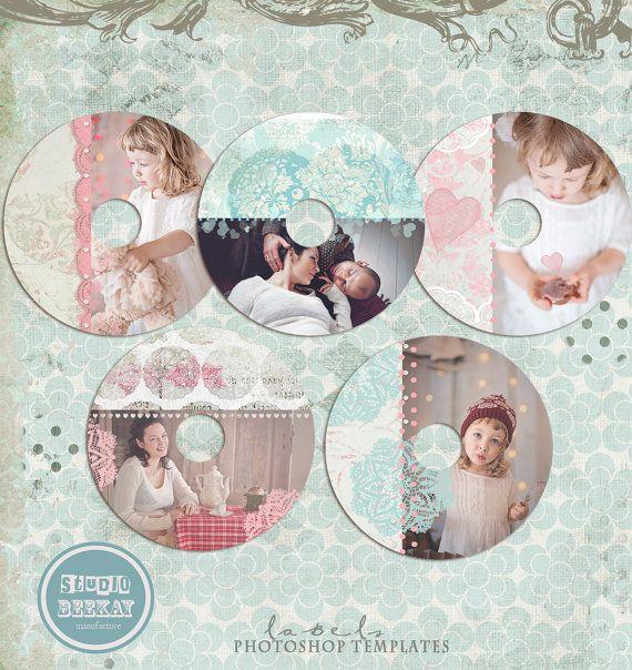 cd/dvd labels photoshop templates, CD Label 2 - INSTANT DOWNLOAD ...