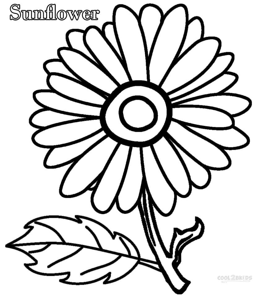 Printable Sunflower Coloring Pages For Kids Cool2bkids Sunflower Coloring Pages Flower Coloring Pages Coloring Pages