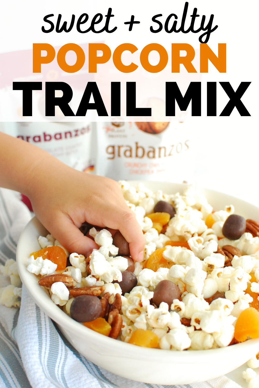 Sweet And Salty Popcorn Trail Mix Snacking In Sneakers Recipe In 2020 Homemade Trail Mix Recipes Sweet And Salty Snack Mix Recipe Trail Mix Recipes