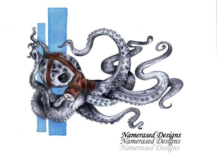 Photo of steampunk octopus tattoo design #tattoo #tattoodesign #flashart #tattooflash #ar …, #Design …