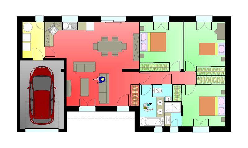Constructeur maison chaumussay plan maisons ericlor for Plan de maison constructeur