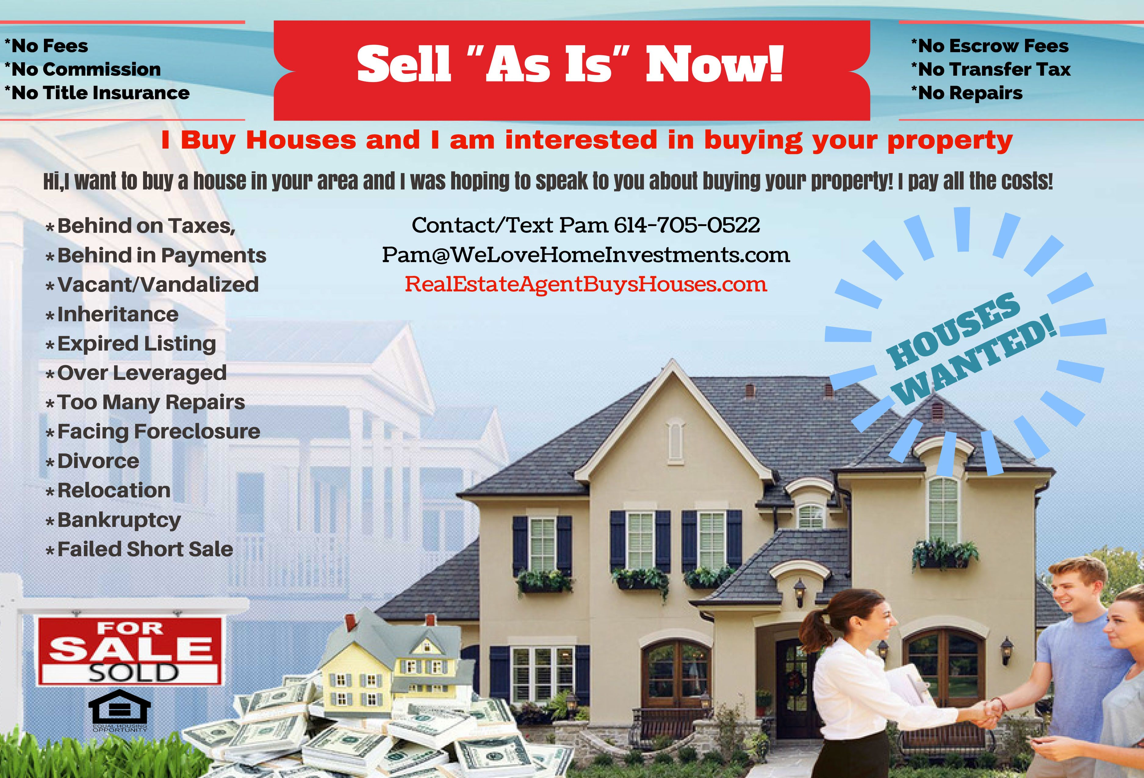 Do you have a problem property sell it to us as is