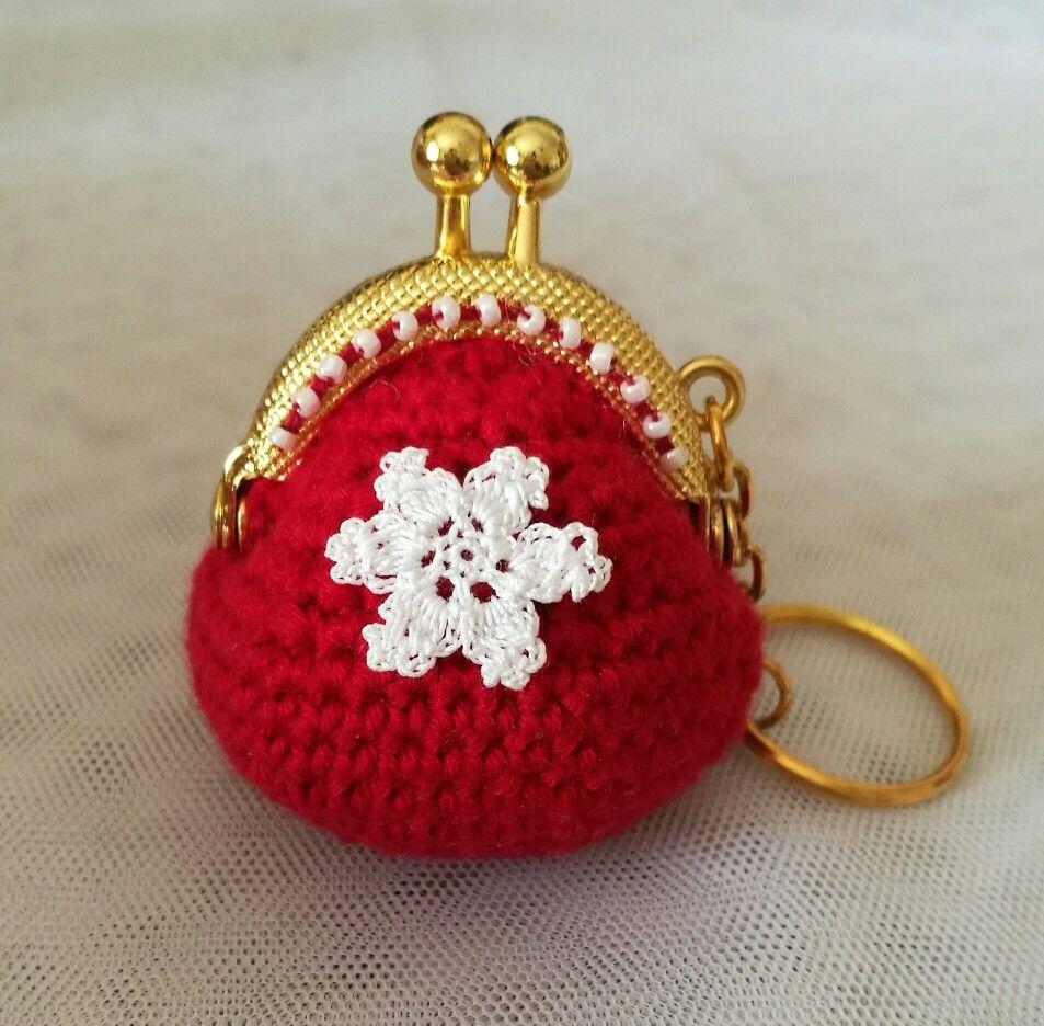 cute crochet purse # crochet clasp purse # mini coin purse by Lucy ...