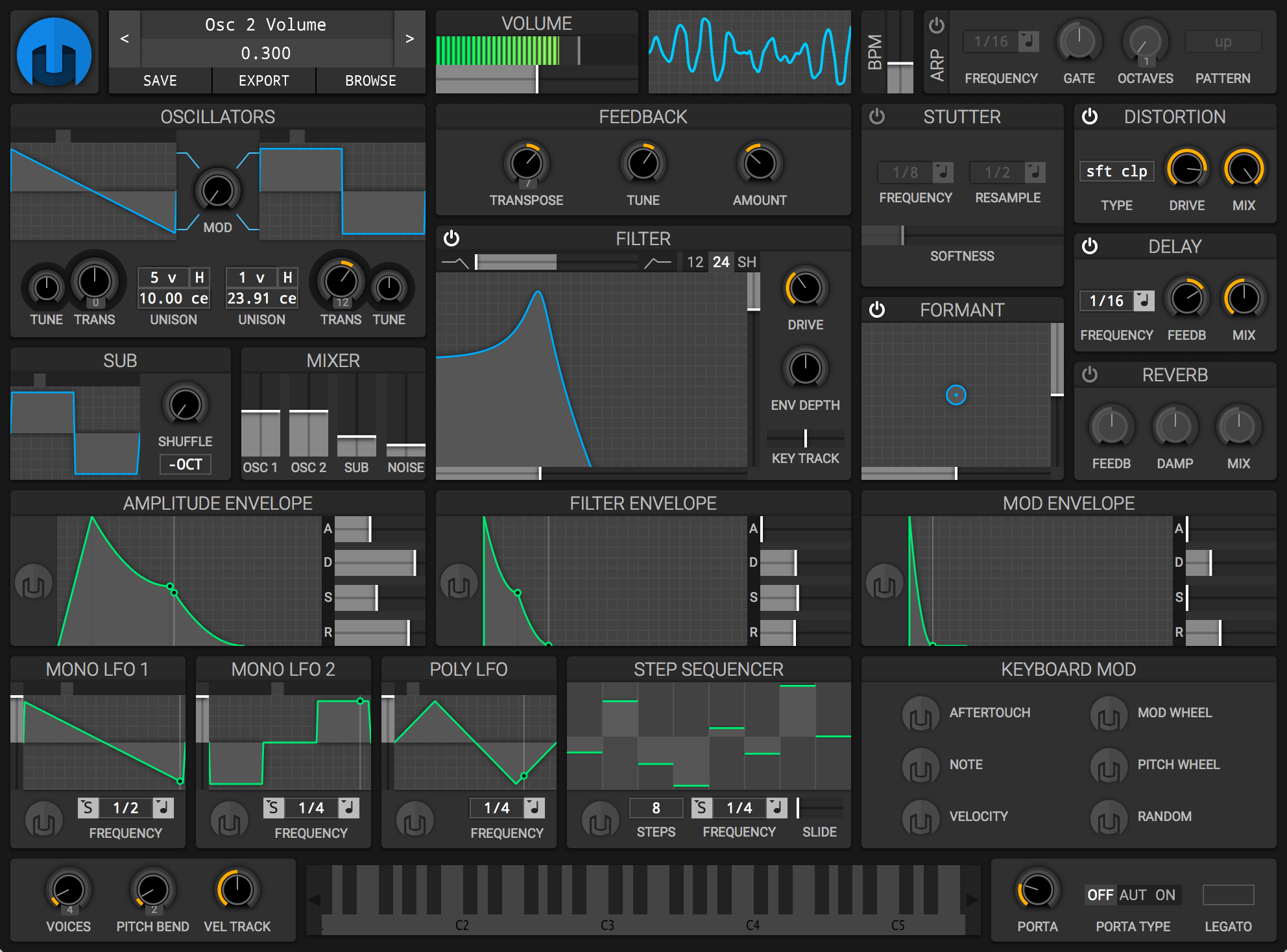 Run Helm as a standalone synthesizer or as an LV2, VST