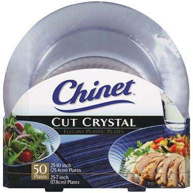 Chinet Cut Crystal Combo Plates (50 ct. - 25 dinner plates and 25 ...