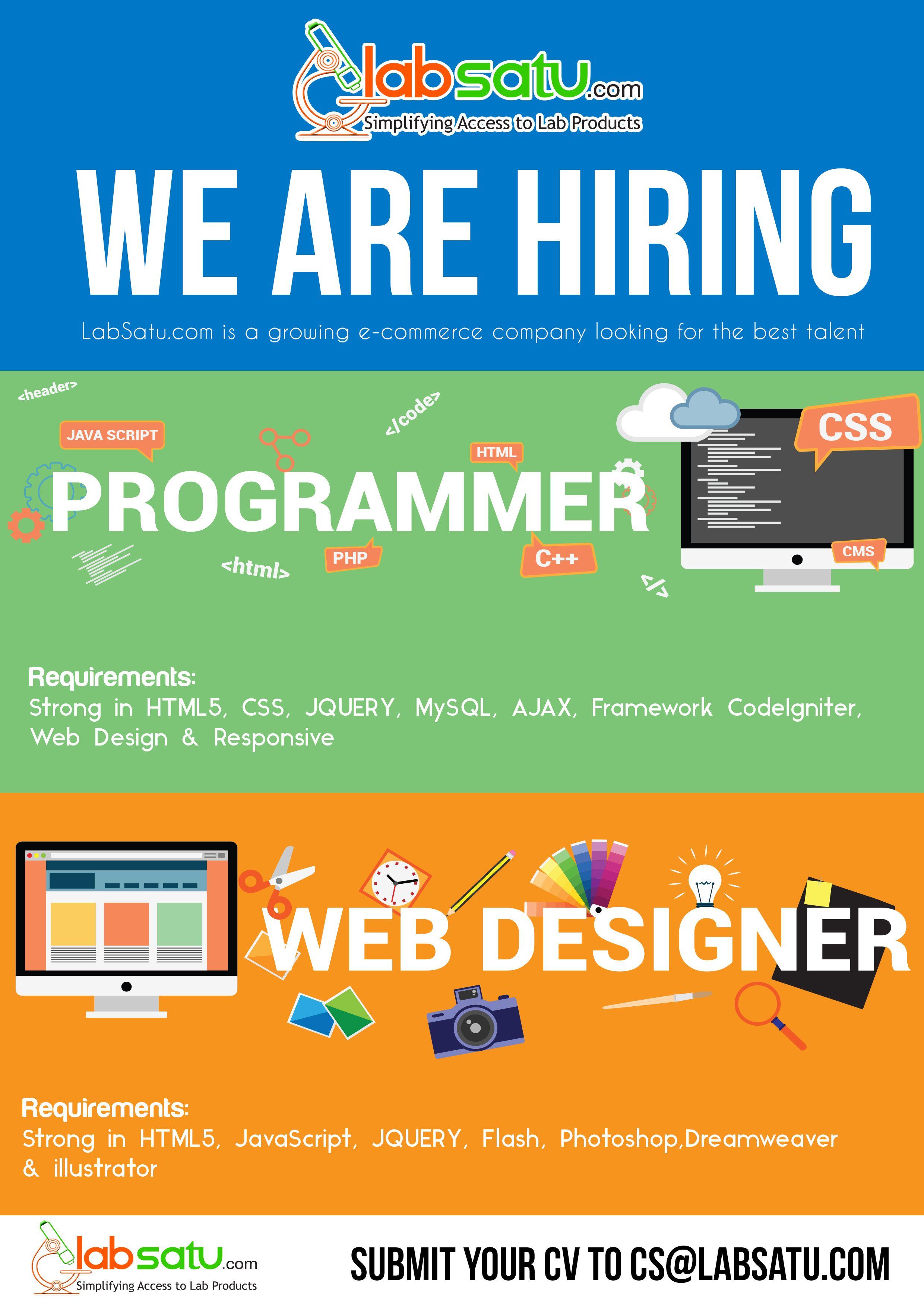 Info Lowongan Kerja Dicari Graphic Designer Internship Opportunity Programmer
