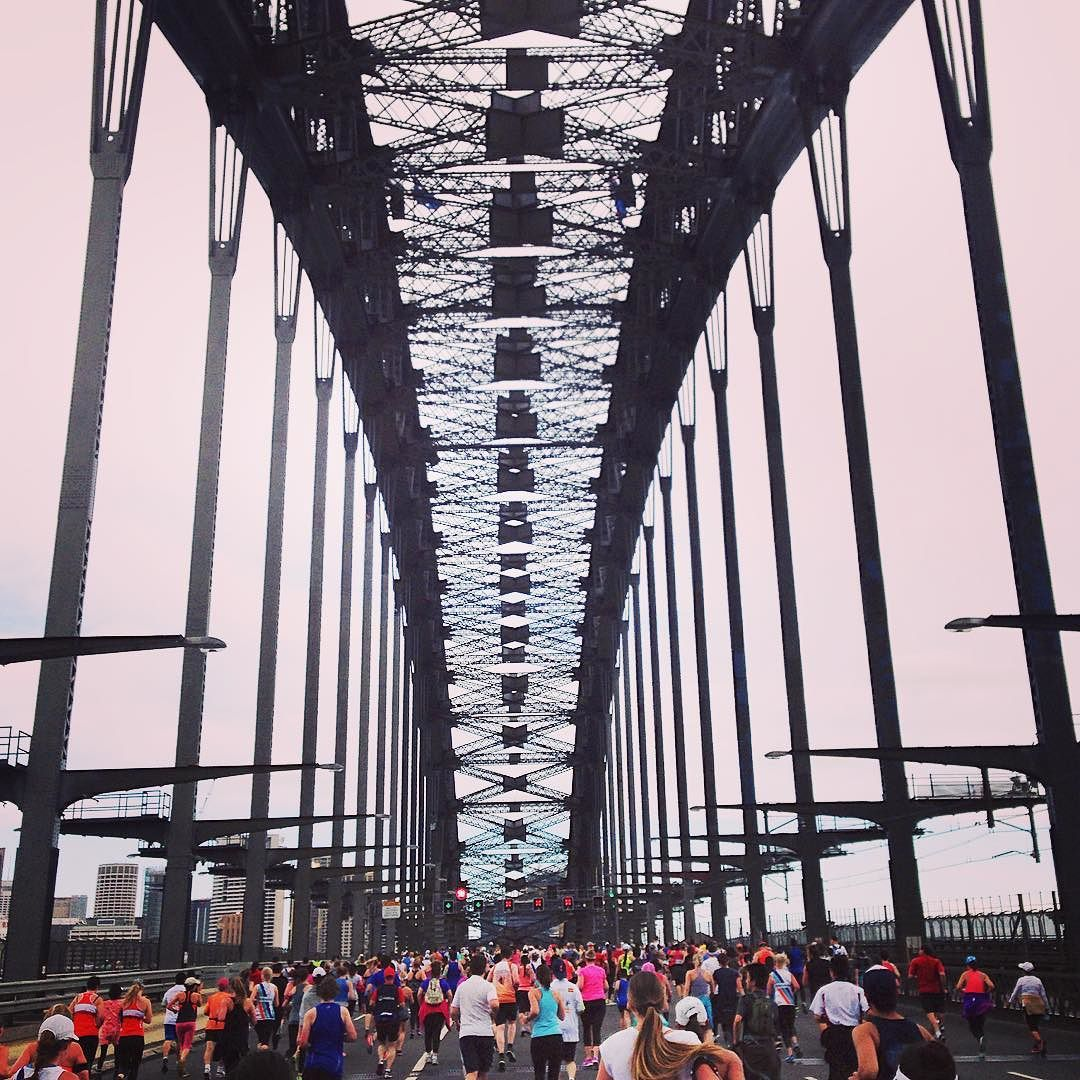 Loved the excitement and fun of running in my first race across my favourite place in the world Sydney Harbour. 9kms in 60 mins. Not bad for an ageing photographer. @nataherington @flyingfeatures @bonniemryan @kazbah1906 #sydney #sydneyharbourbridge @destination_nsw by jamesmorganphoto http://ift.tt/1NRMbNv