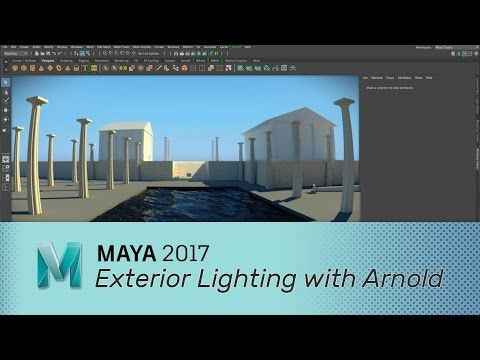 3 Methods for Lighting an Exterior Scene With Arnold