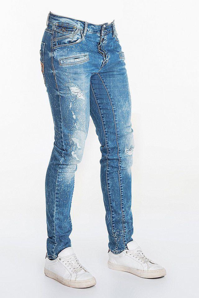 Cipo & Baxx Herren Jeans im Destroyed Look | Produktkatalog