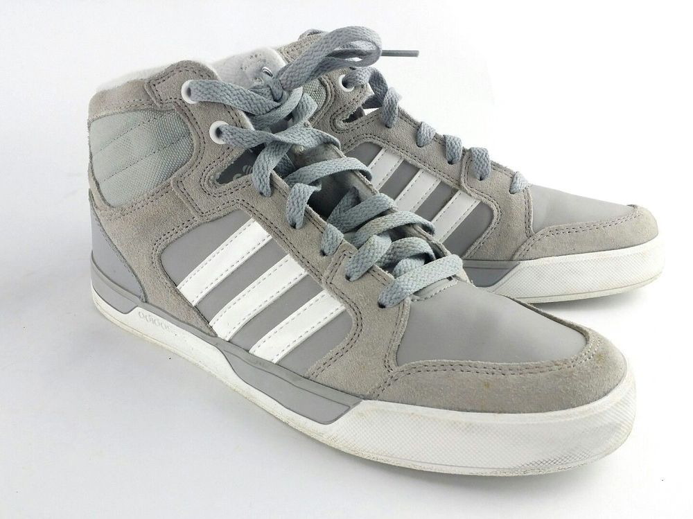 online retailer ceb6e 32a17 ADIDAS Mens Size 7 NEO Label Gray High Tops Shoes Sneakers 3 Stripes Lace  Up  fashion  clothing  shoes  accessories  mensshoes  athleticshoes (ebay  link)