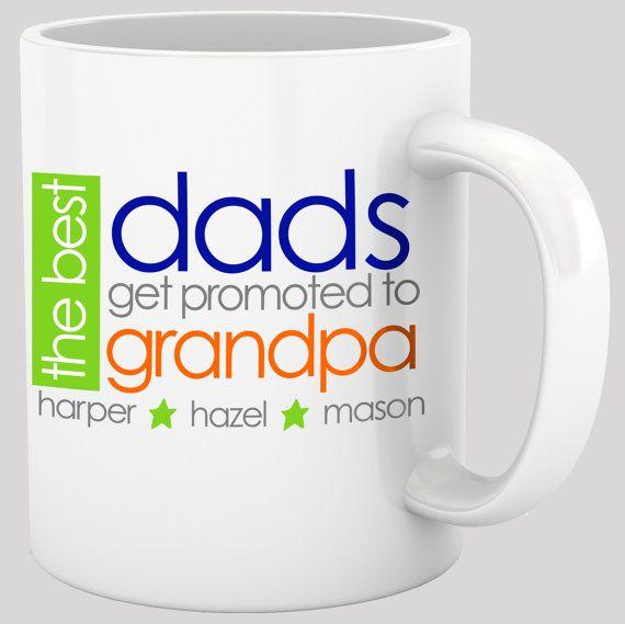 Attractive Coffee Mug Grandpa Fun Bright Design The Best Dads By Zoeysattic, $18.00
