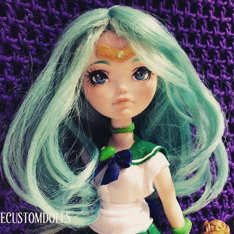 Available on my #etsy shop: Sailor Neptune custom doll!  #girlpower #dolls #sailorneptune
