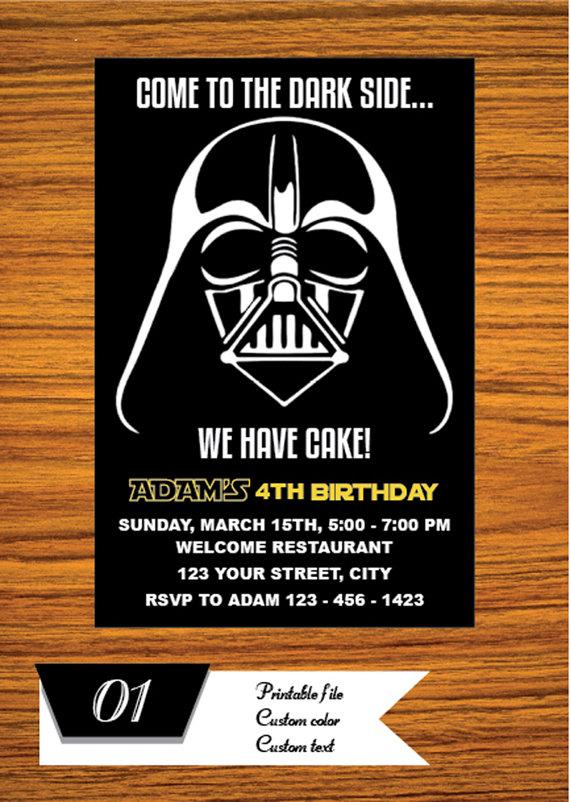 Star Wars Invitation Star Wars Party Invitation Star Wars Etsy Star Wars Invitations Star Wars Invitations Free Star Wars Birthday Invitation
