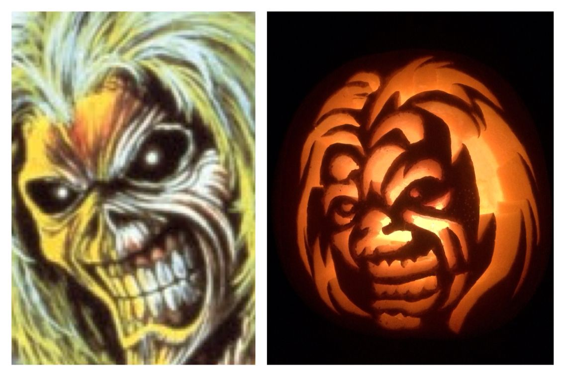 Iron Maiden Eddie Pumpkin Stencil