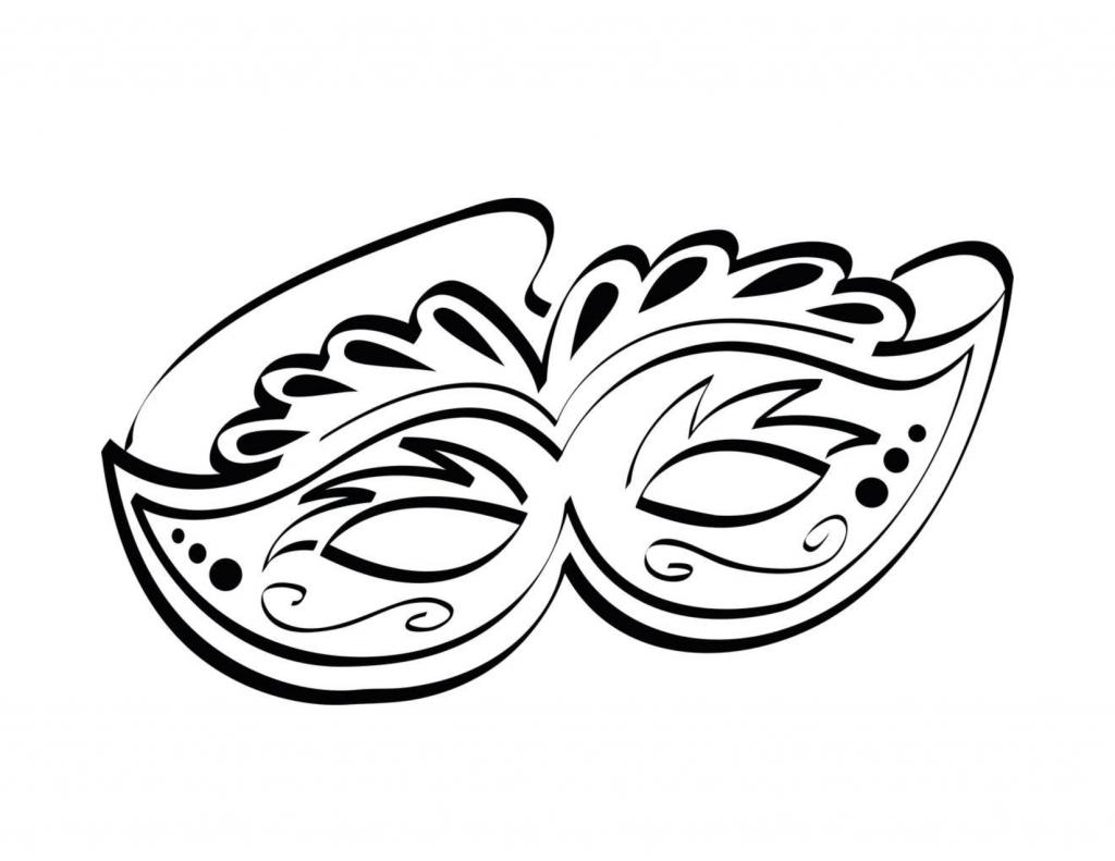 Printable Mardi Gras Coloring Pages   misc masks 4 kids ...