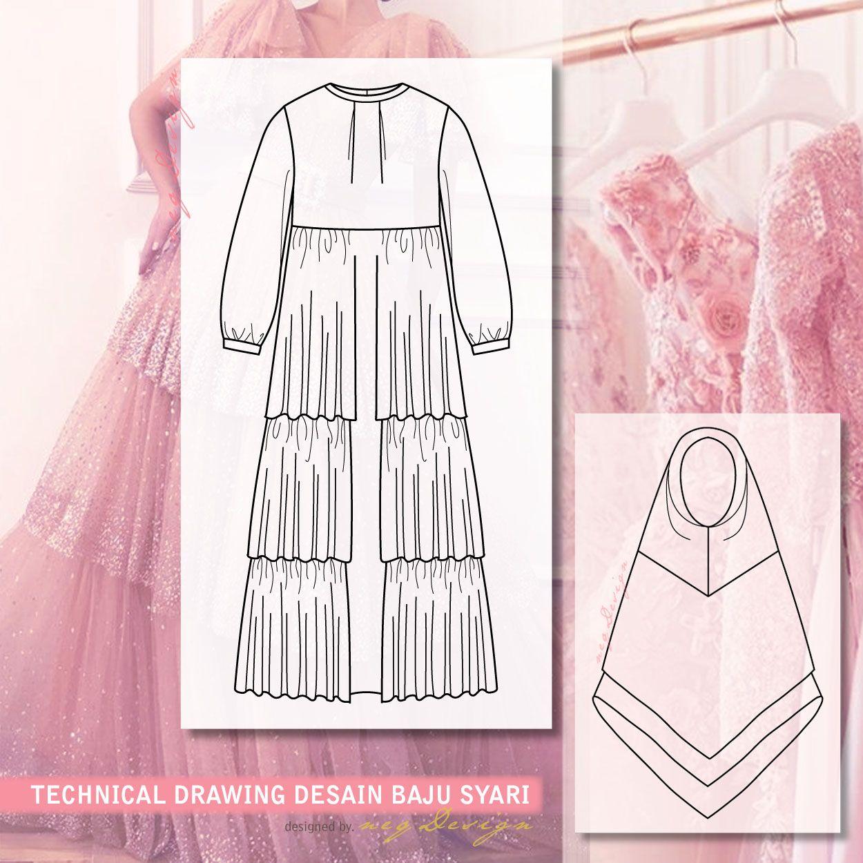 Desain Baju Gamis Cara Sederhana - Diary Hijaber