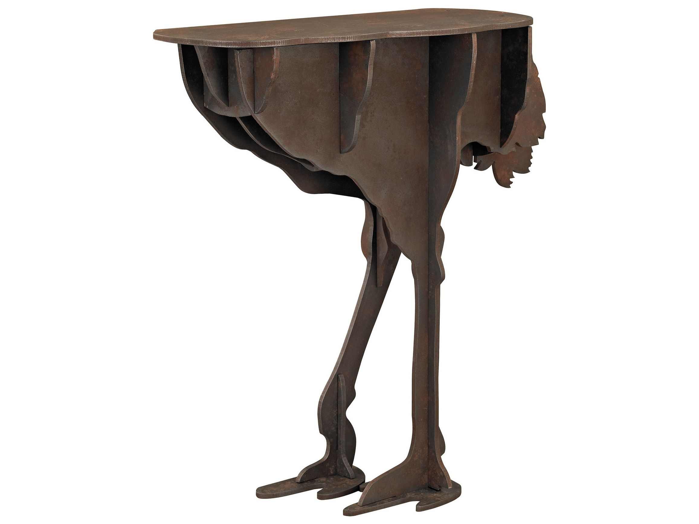 Sterling Ostrich Brown 29 L X 12 W Console Table Console Table