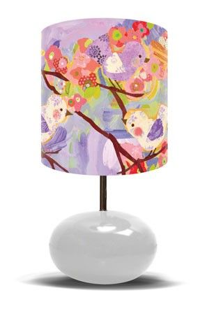Cherry blossom birdies lavender lamp from oopsy daisy fine