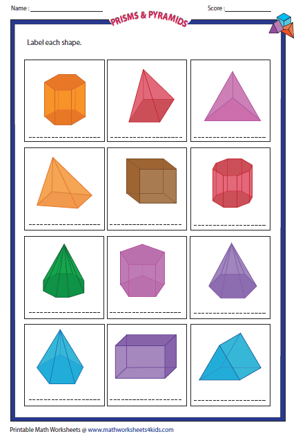 Solid 3d Shapes Worksheets Shapes Worksheets Shapes Lessons 3d Shapes Worksheets