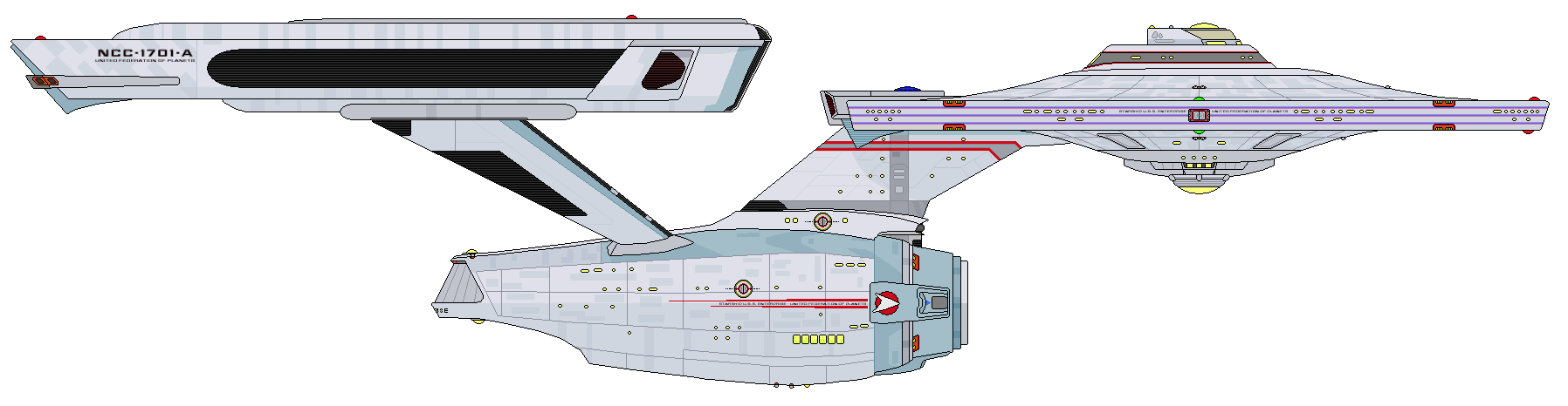 Starboard Schematic Of U S S Enterprise Ncc 1701 A Uss Enterprise Star Trek Star Trek Ships Star Trek Movies