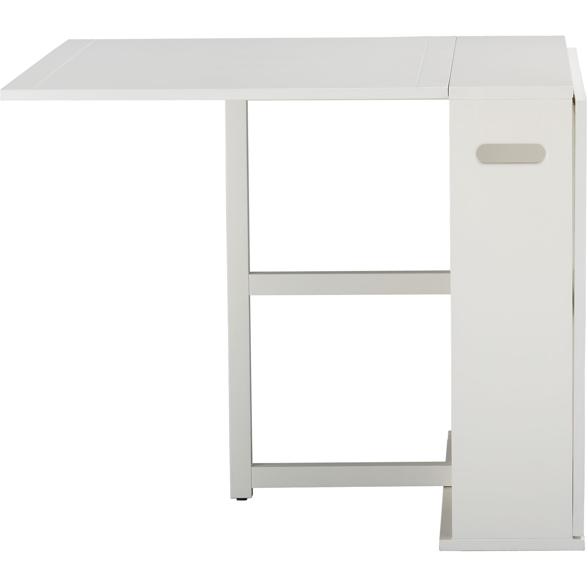 Span White Gateleg Dining Table In Tables Crate And Barrel