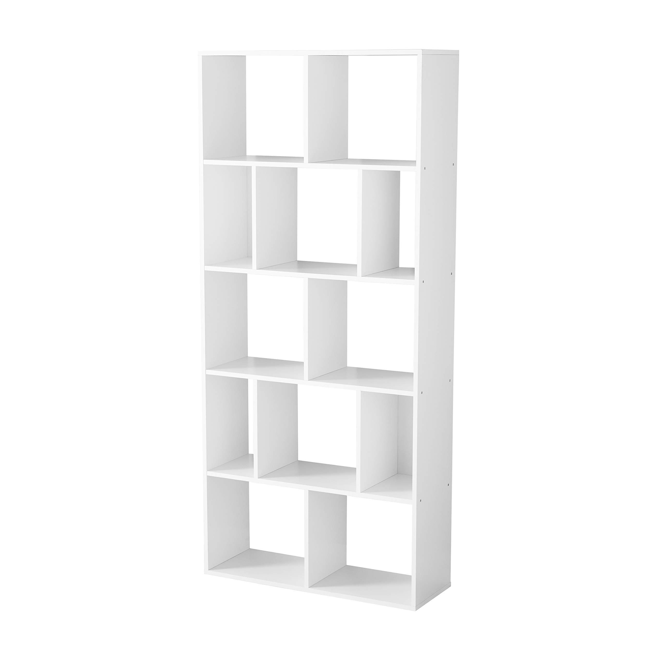 12 Cube Storage Organizer Bookcase Display Contemporary Design Wood Composite Structure 32 01 L X 11 46 W In 2020 With Images Cube Bookcase Cube Storage Bookcase Organization