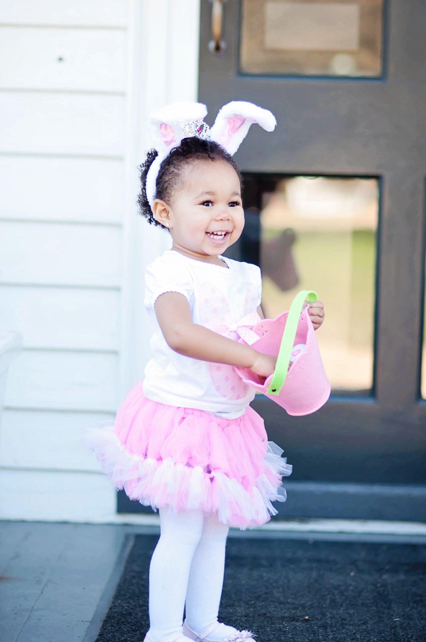 Pink Princess Bunny Tutu Set Holiday Outfits Kids