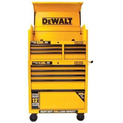 Dewalt 36 In 5 Drawer Roller Cabinet Tool Chest In Yellow Dwmt73679 The Home Depot Dewalt Dewalt Tools Pine Bedroom Furniture