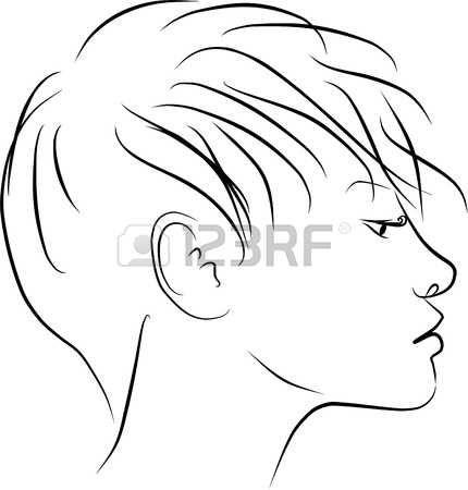 Dibujo Cara Mujer El Perfil De Mujer Joven Dibujos Fotos De