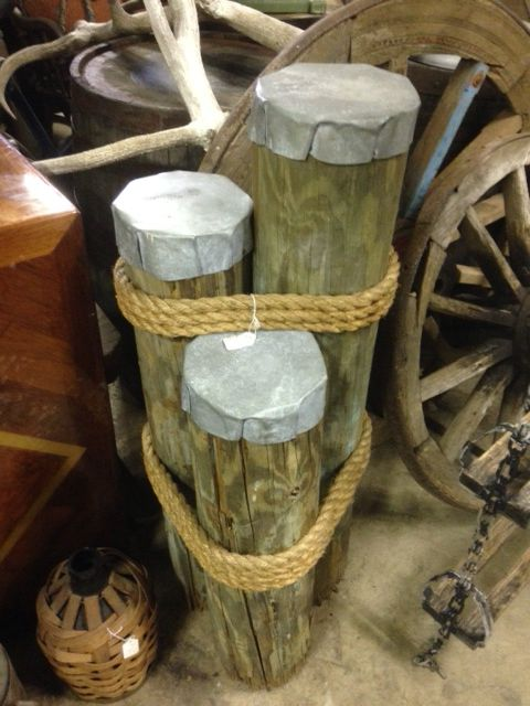 Dock Pilings custom made@ Stone Age Antiques